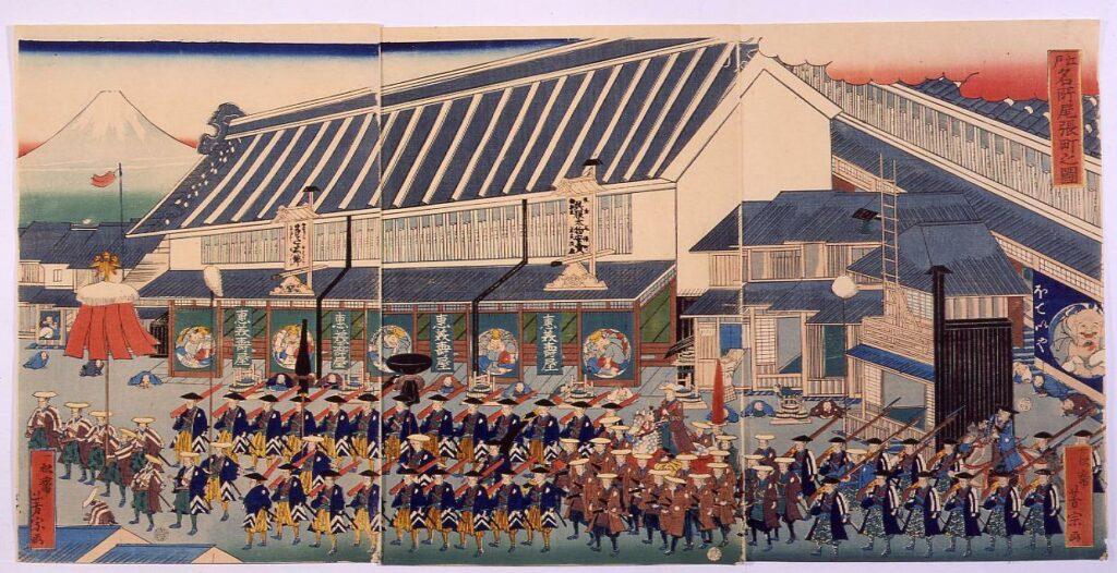 作品画像:江戸名所 尾張町之図