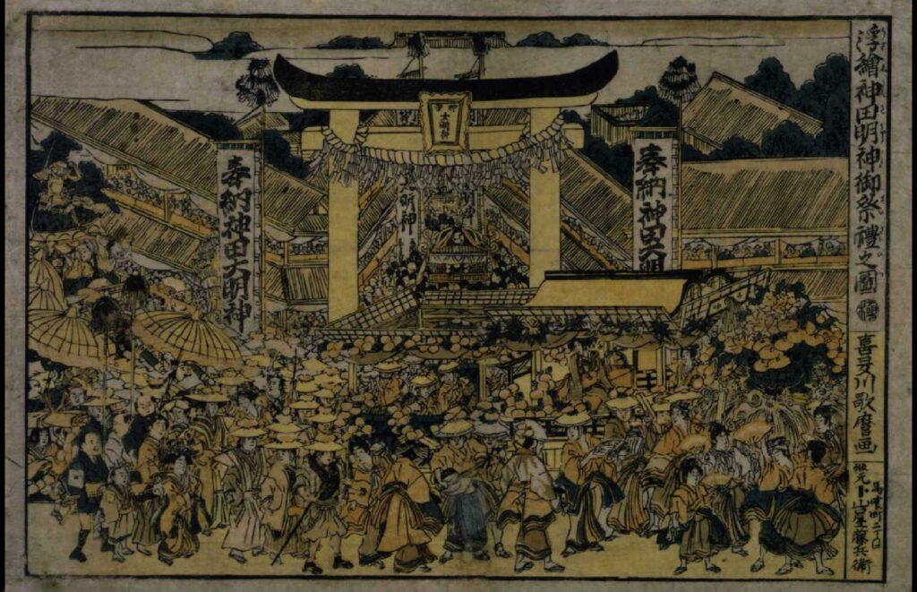 作品画像:浮絵神田明神御祭礼之図