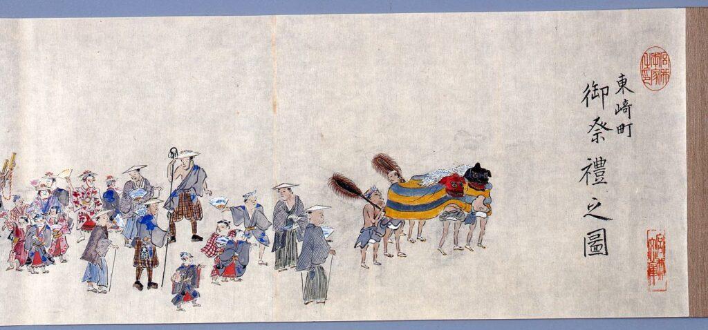 作品画像:土浦東崎町御祭礼之図