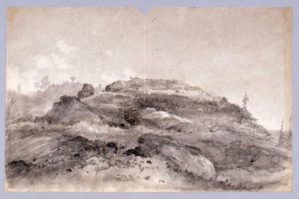 作品画像:素描 「なだらかな丘陵」