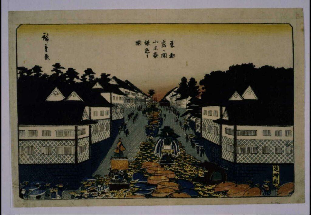 作品画像:東都霞が関 山王祭練込之図