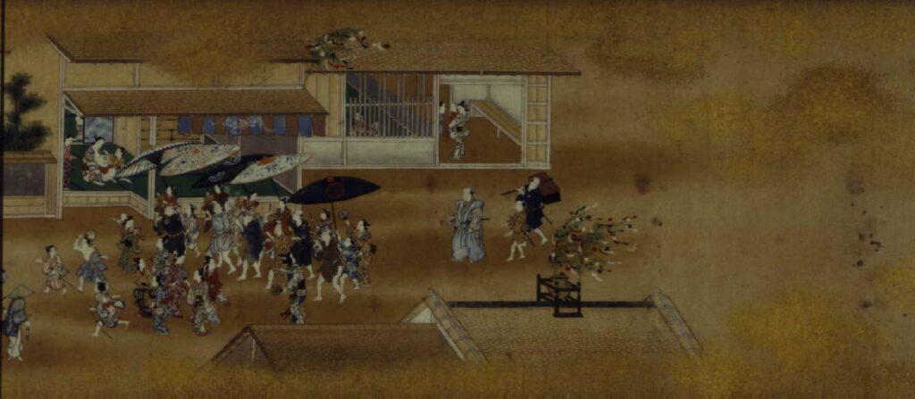 作品画像:江戸四季風俗絵巻