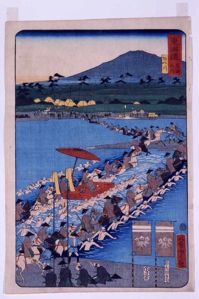 作品画像:東海道之内 阿べ川