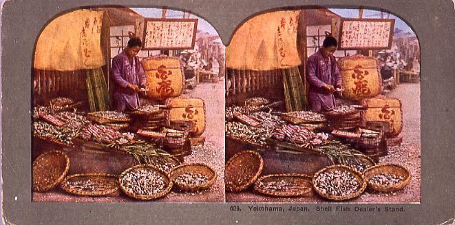 作品画像:Yokohama,Japan.Shell Fish Dealer's Stand.629