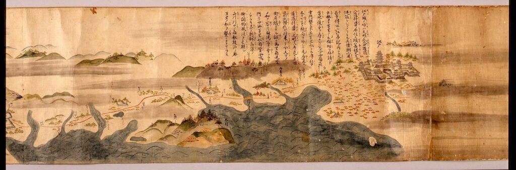作品画像:道中図巻(江戸より九州五嶋まで)