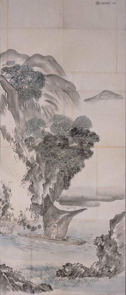 作品画像:粉本 豊彦写 山渓帆船漁