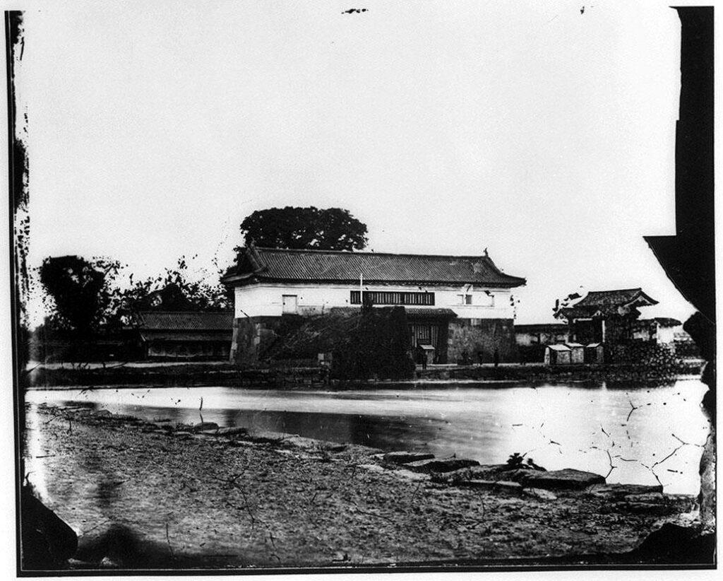 作品画像:旧江戸城写真ガラス原板 日比谷門