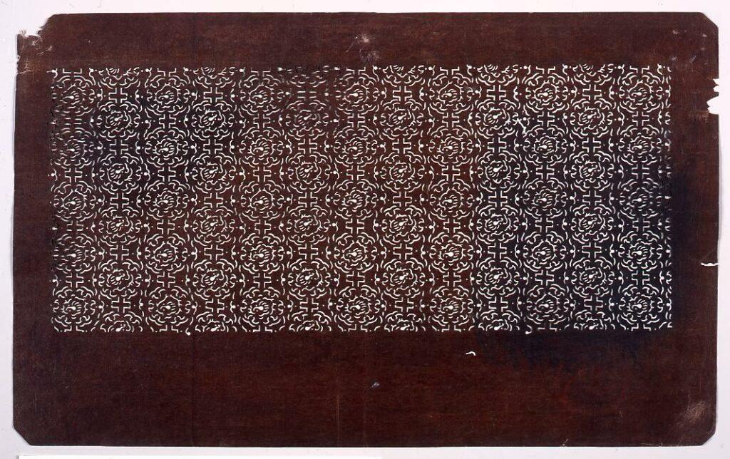 作品画像:長板中形型紙 龍文