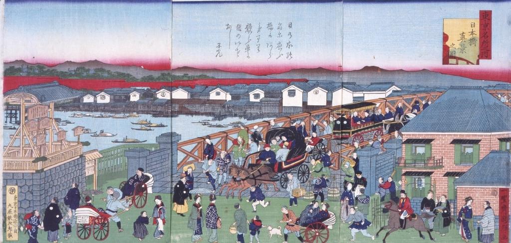 作品画像:東京名所之内 日本橋真景之図