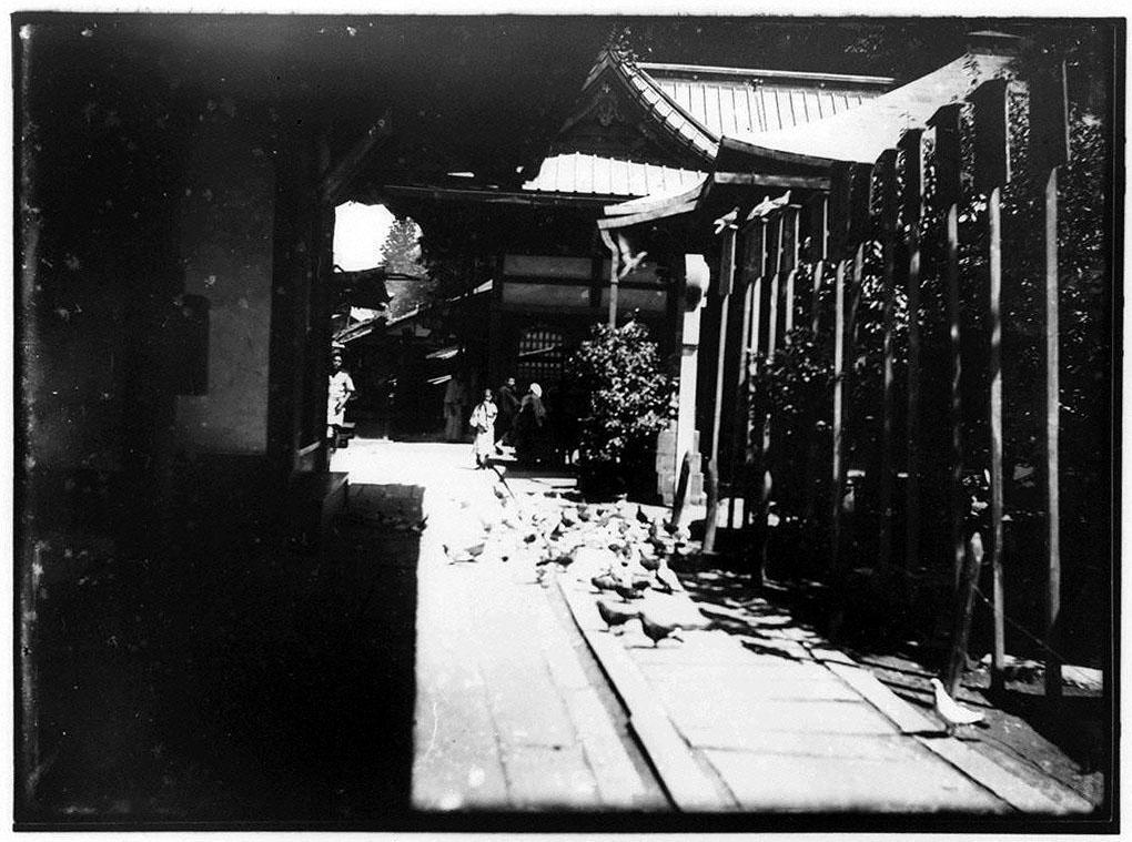 作品画像:寺院脇の道