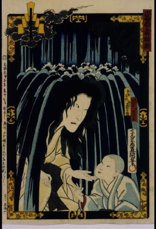 作品画像:当櫓看板揃 「誉曽我皐月念力」 坂東彦三郎と坂東松治郎