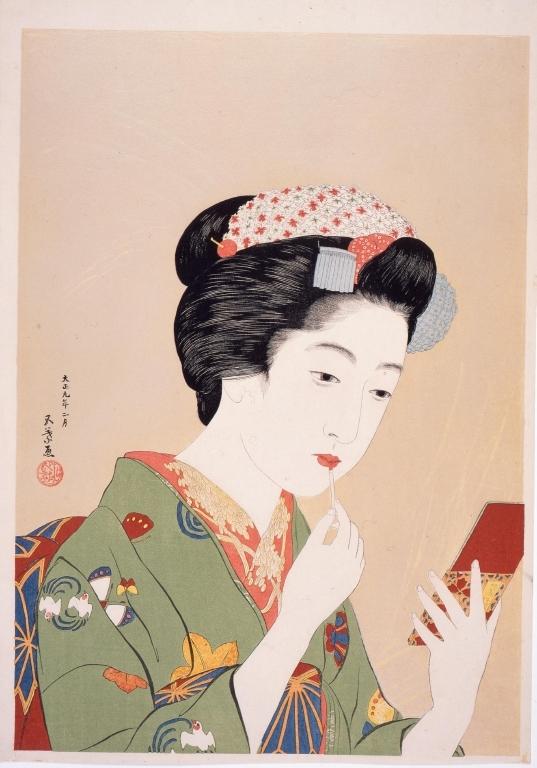 作品画像:紅筆を持てる女