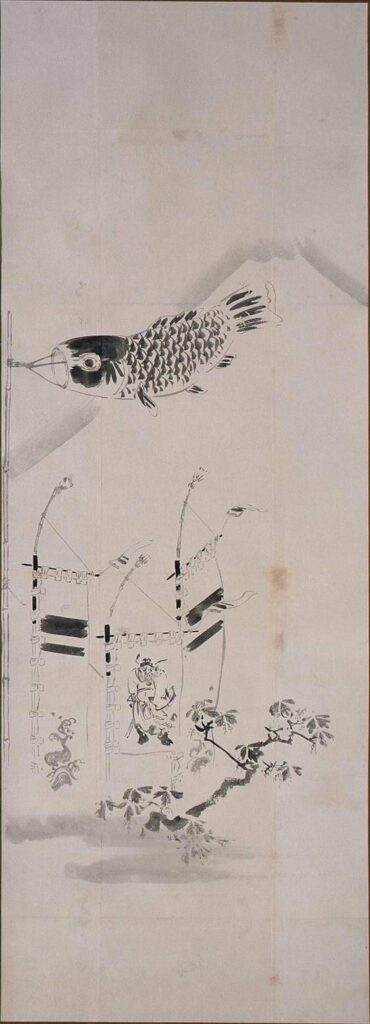 作品画像:粉本 富士に鯉幟