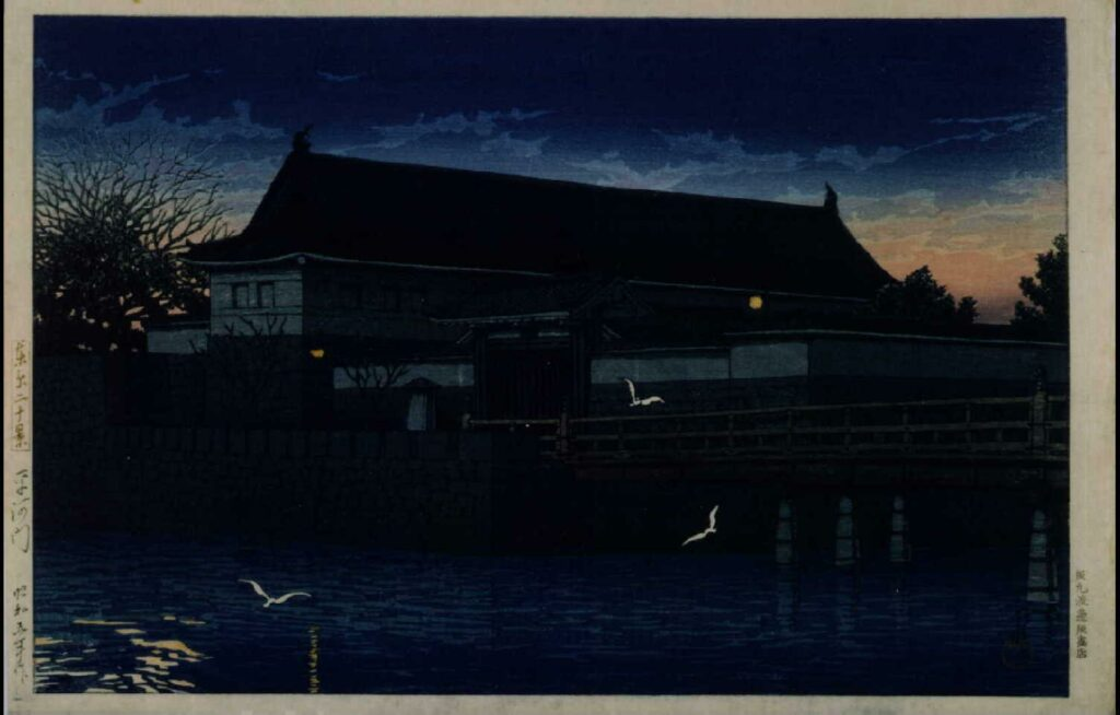 作品画像:東京二十景 平河門