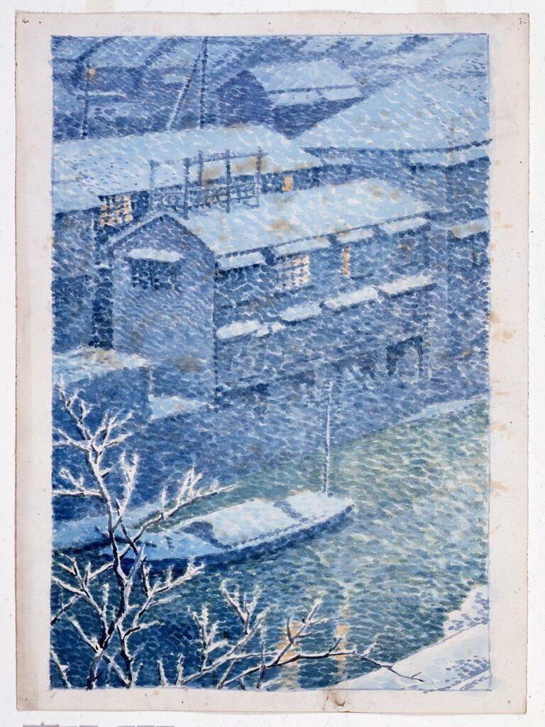 作品画像:東京二十景 御茶の水 原画