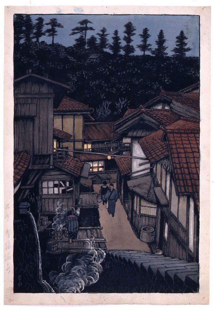 作品画像:旅みやげ第三集 石見有福温泉 原画