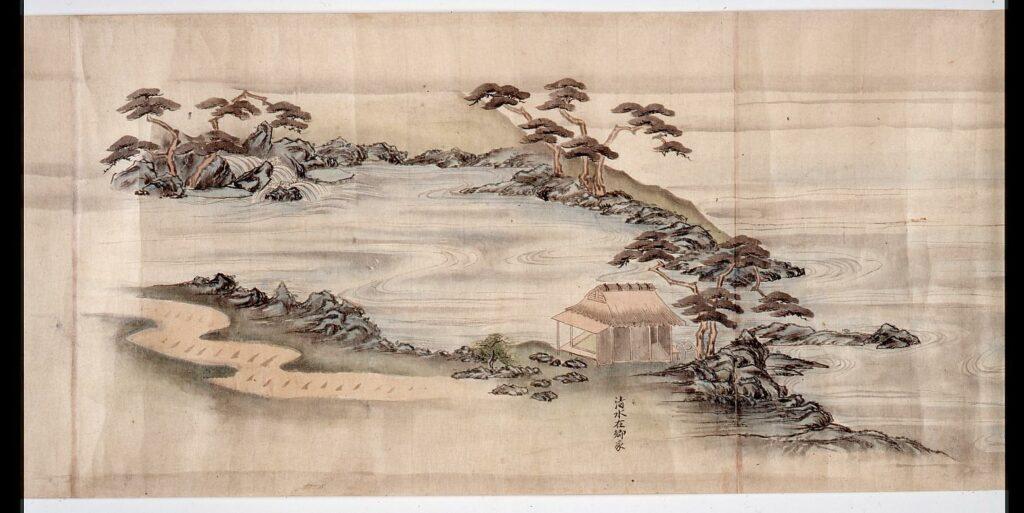 作品画像:尾張藩下屋敷戸山荘図巻