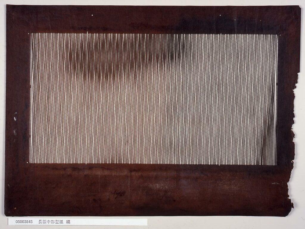 作品画像:長板中形型紙 縞