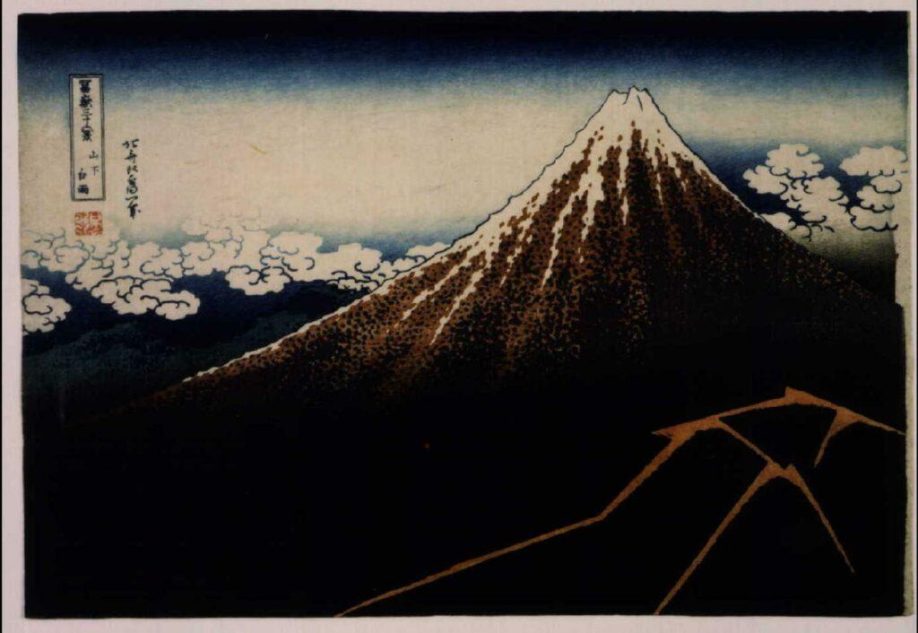 作品画像:冨嶽三十六景 山下白雨