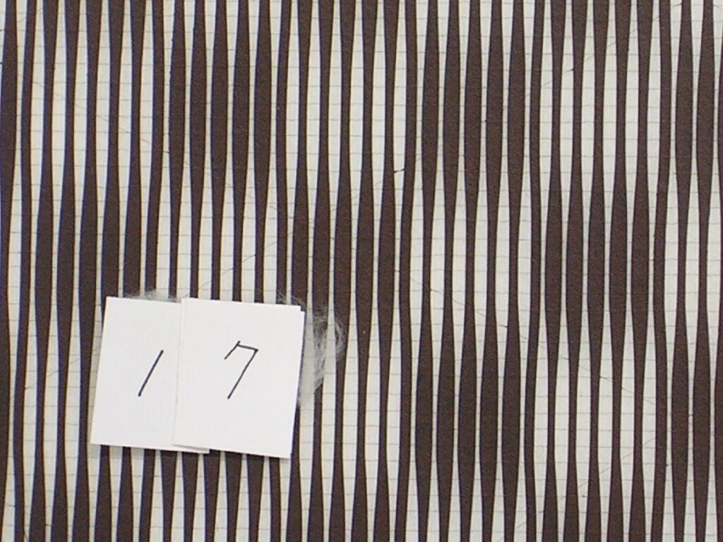 作品画像:長板中形型紙 中判糸入 ぼかし縞市松文