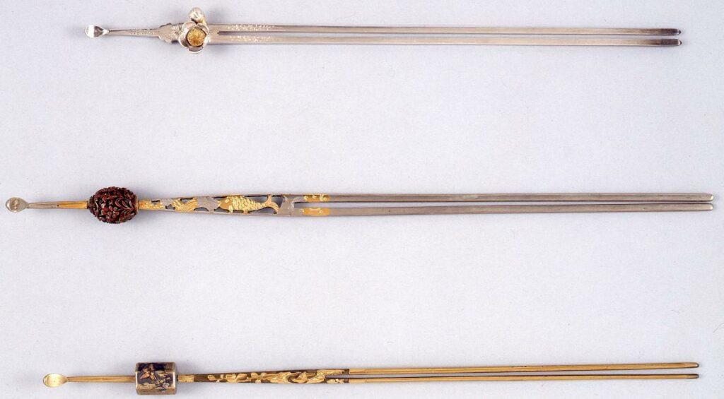 作品画像:銀彫付梅花琴柱簪