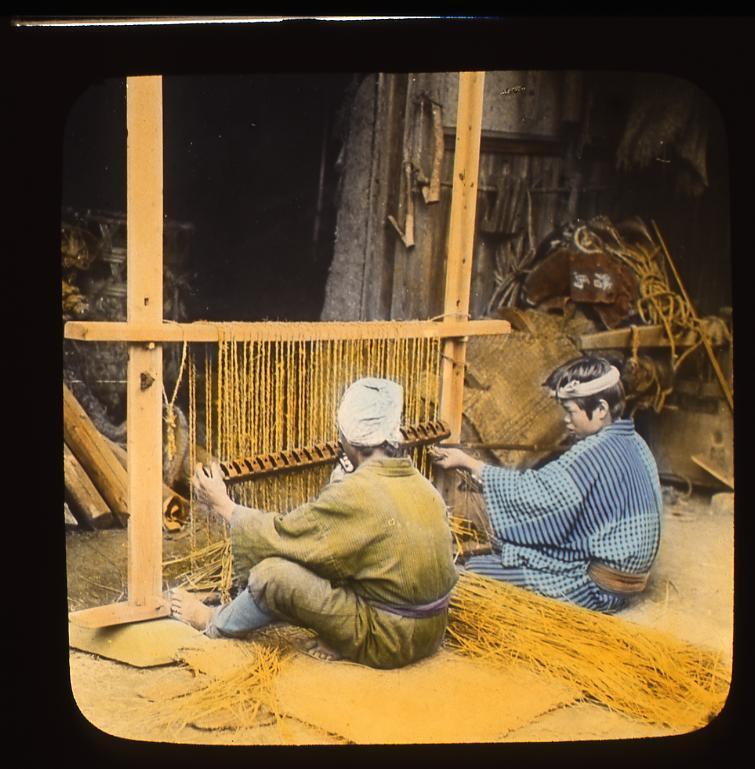 作品画像:〔農作業をする男性たち〕