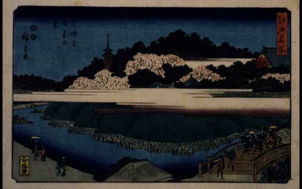 作品画像:江戸名所 芝増上寺前の景