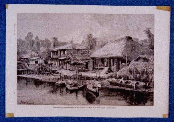 作品画像:アンベール「幕末日本図絵」挿絵 大村湾の漁村