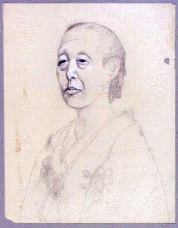 作品画像:下絵 女性肖像