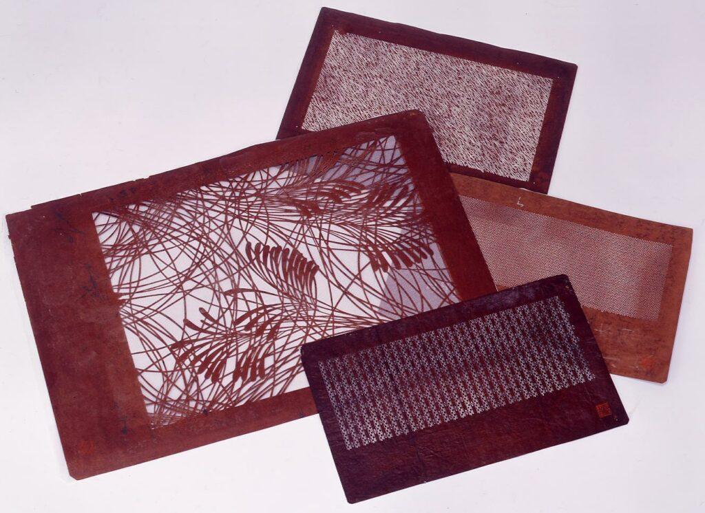 作品画像:長板中形型紙 追掛用