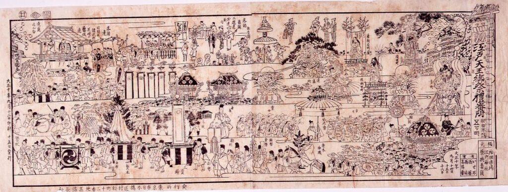 作品画像:江戸天王御祭礼番付