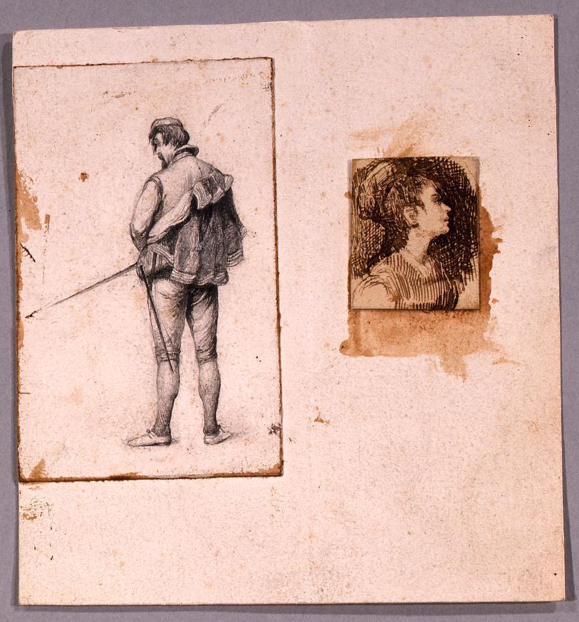 作品画像:素描 男性像,女性像