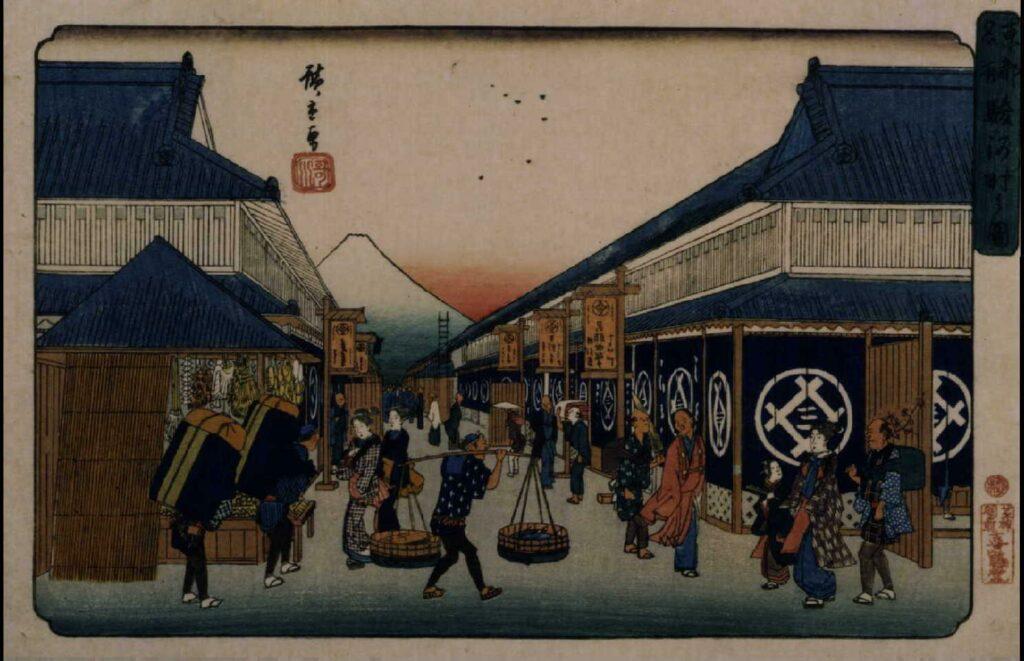 作品画像:東都名所 駿河町之図