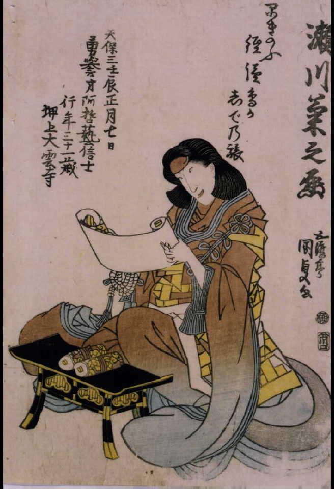 作品画像:五代目瀬川菊之丞 死絵 「早きのふ」