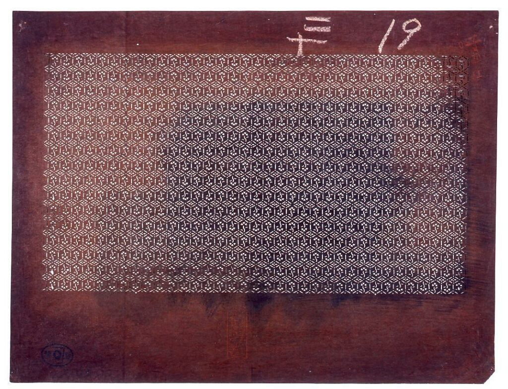 作品画像:長板中形型紙 菱小紋