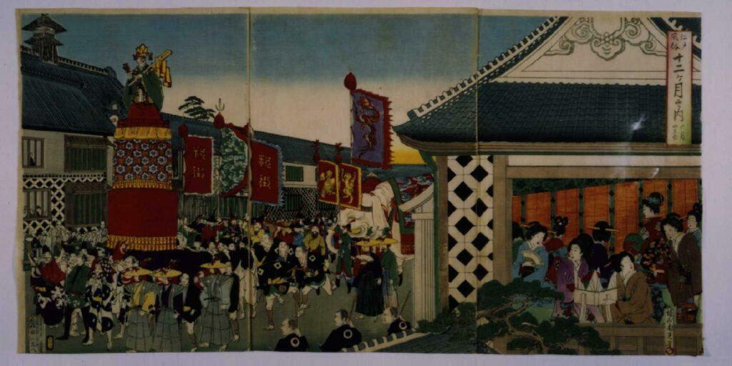 作品画像:江戸風俗十二ケ月之内 六月山王祭