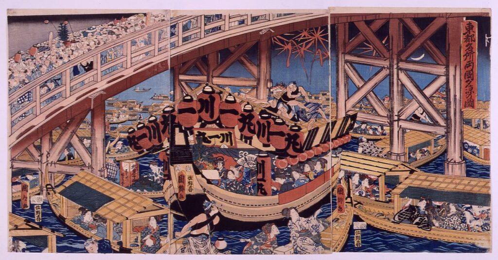 作品画像:東都名所両国夕凉の図