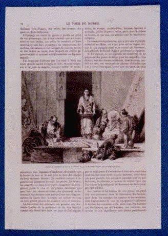 作品画像:アンベール「幕末日本図絵」挿絵 木彫り職人,亀に乗った仏像