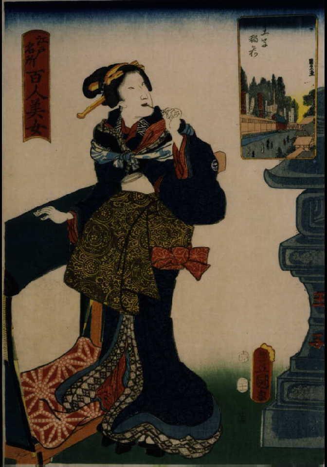 作品画像:江戸名所百人美女 王子稲荷