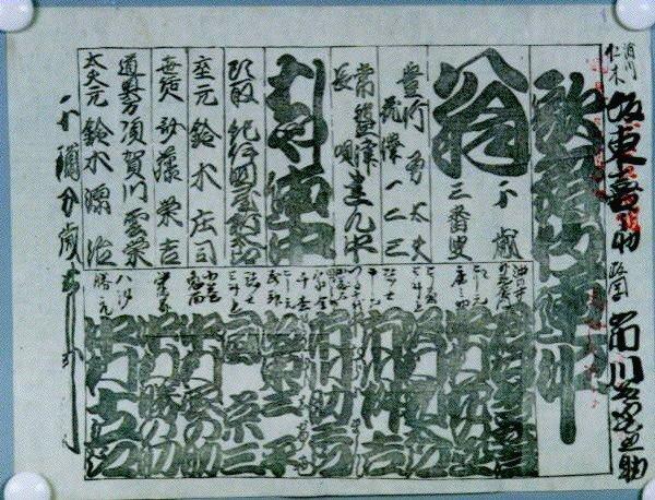 作品画像:辻番付「歌舞伎連中」