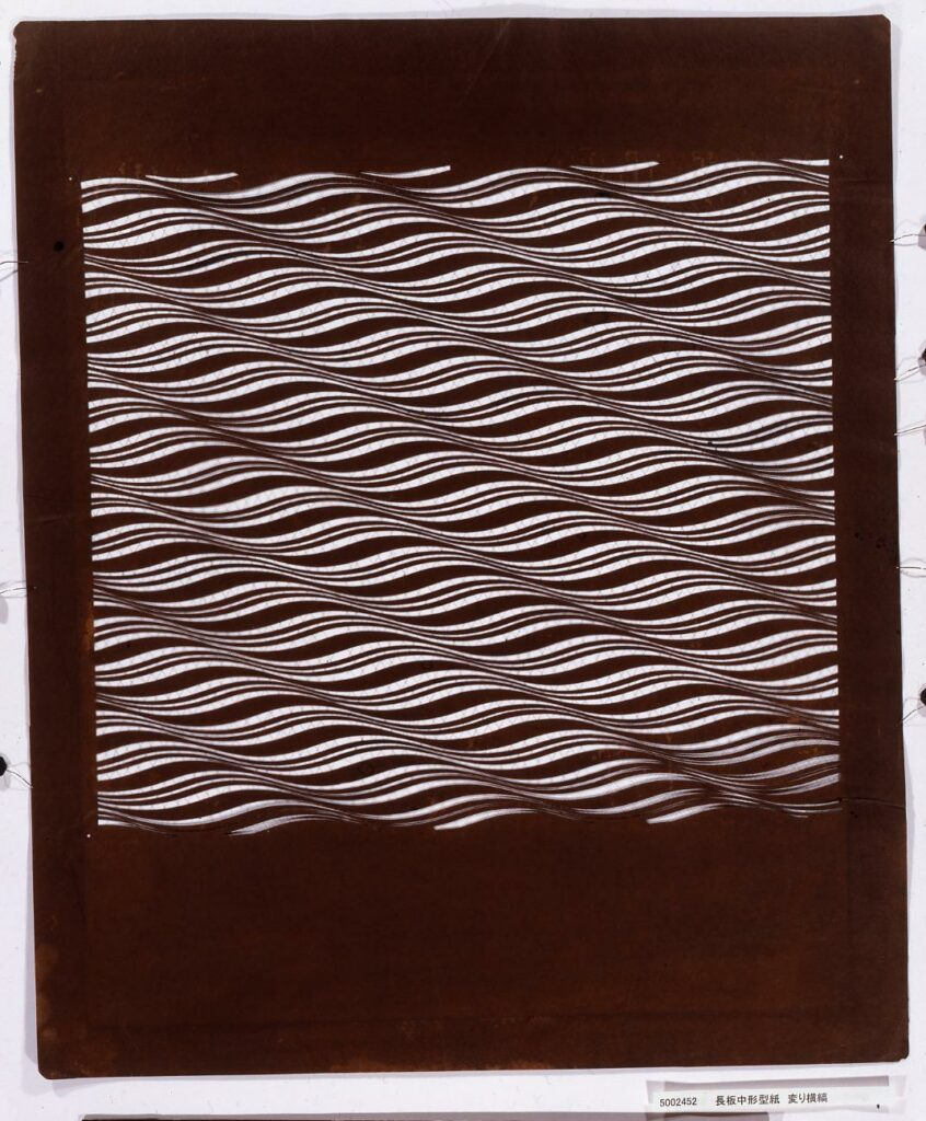 作品画像:長板中形型紙 変り横縞