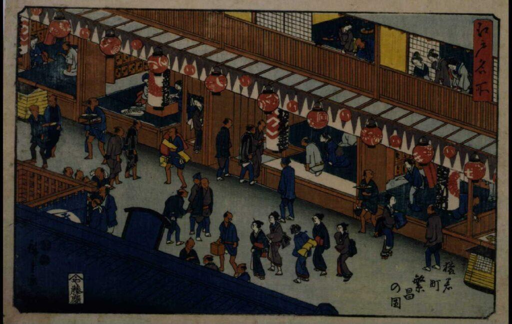 作品画像:江戸名所 猿若町繁昌の図