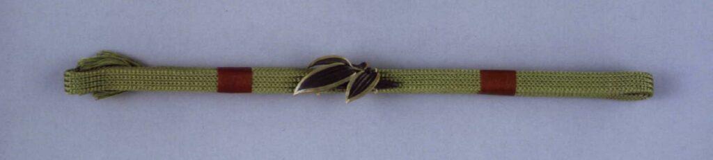 作品画像:笹彫帯留付帯締