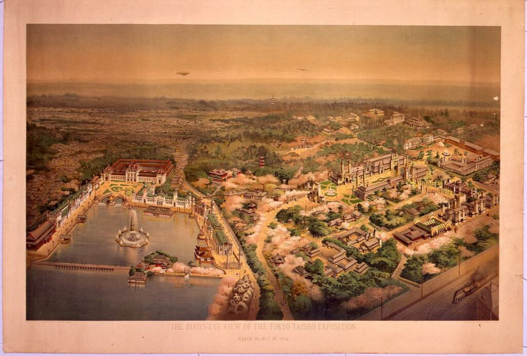 THE BIRD'S-EYE VIEW OF THE TOKYO TAISHO EXPOSITION