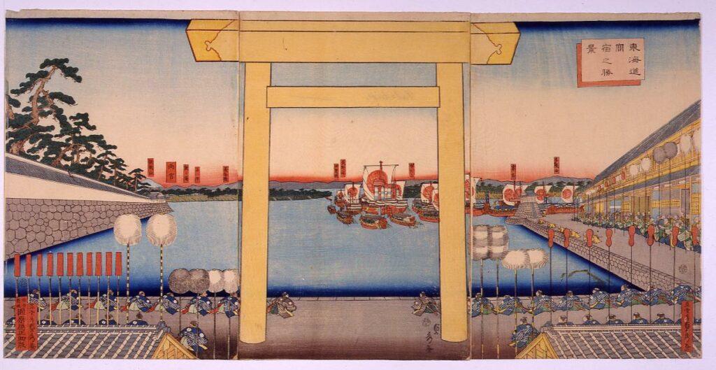 作品画像:東海道宮宿之勝景