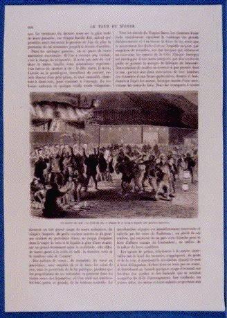 作品画像:アンベール「幕末日本図絵」挿絵 酒の守護神,牛頭神社夜店の賑い