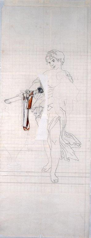 作品画像:下絵 「シーザーの剣と兜」