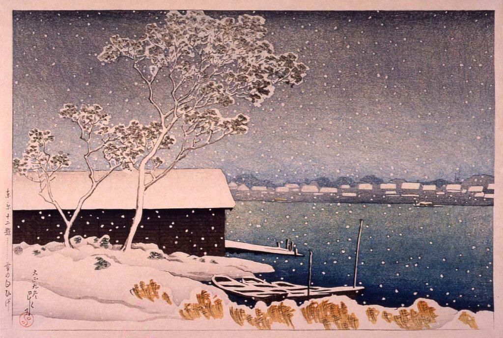 作品画像:東京十二題 雪の白ひげ