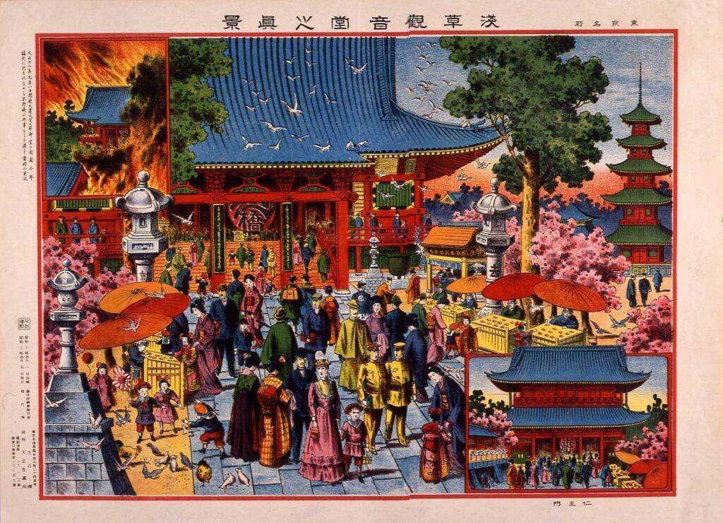 作品画像:東京名所 浅草観音堂之真景