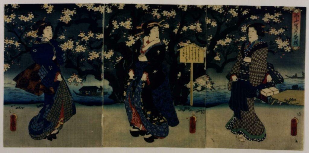 作品画像:向ふ島の夜桜
